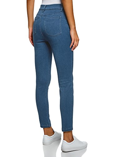 Jeggings Donna Laterale Zip Ultra 7500w Con Blu Oodji Bgq4xE