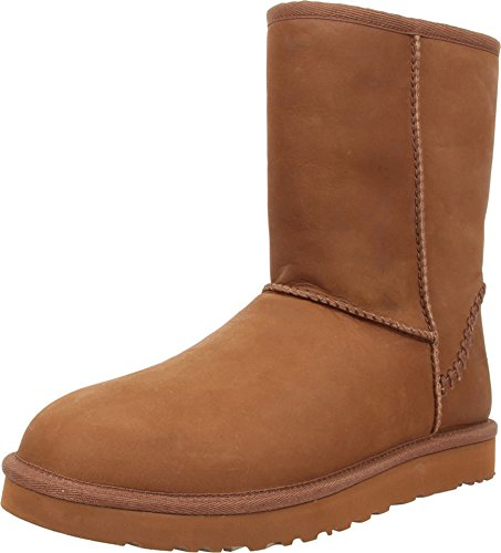 UGG Men's Classic Short Deco Chestnut Leather Boot 18 D (M) (Mens Boots Classic Short Ugg)