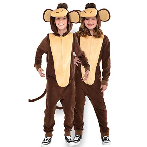 Suit Yourself Zipster Monkey One-Piece Costume for Children, Size Small, Includes Attached Hood, Ears, and Tail]()