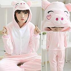 HNBY Pijama De Halloween Adultos Animales Gato Onesie Hombres De Las Mujeres Pareja De Invierno Pijama Traje De La Ropa De Noche De La Franela De Pijama (Color : Brown, Size : XXS)