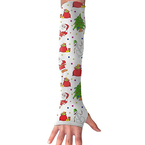 ZHONGRANINC Father Christmas Tree Snowman Funny Sleeves Sun Protective Arm Compression Cover Warmer Cooler (Tree The Origins Christmas Of)