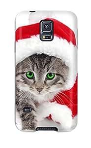 New Galaxy S5 Case Cover Casing(santa Cat)