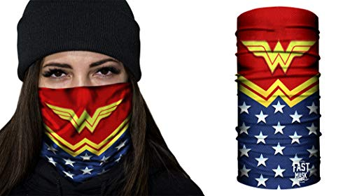 Fast Mask Tubular Bandanas With Face Shielding Protection Unisex - Wonder Woman -