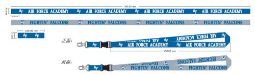 NCAA Air Force 81271012 Lanyard with Detachable Buckle, 3/4