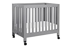 Babyletto Origami Mini Crib, Grey