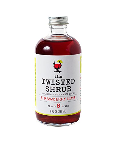 The Twisted Shrub - STRAWBERRY LIME - Apple Cider Vinegar drink mixer for healthier beverages. Try all 6 flavors!