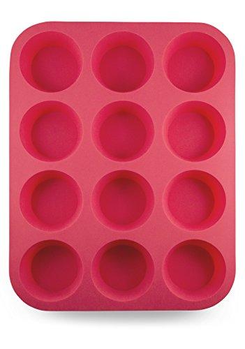 Grazia Silicone Muffin Pan, Red, 12-Cup by Grazia (Image #7)