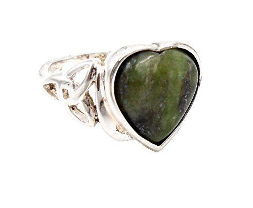 Irish Connemara Marble Heart Ring #1017-7