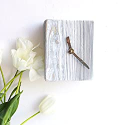 Rustic Clock Wall Wall Clock Decorative Kitchen Wall Clocks Wood Wall Clock Wall Clock Wood Wall Clock Rustic Country Clock White Blue