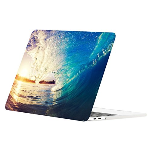 TOP CASE - Floral Pattern Matte Hard Case Compatiable with MacBook Pro 13-inch A1989,A1706 with Touch Bar / A1708 Without Touch Bar (Release 2017,2016,2018) - Surfing Day