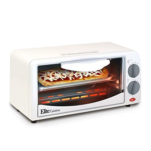 Maxi-Matic by ETO-224 Personal 2 Slice Countertop Toaster Oven with 15 Minute Timer Includes Pan and Wire Rack, Bake, Broil, Toast, Large,
