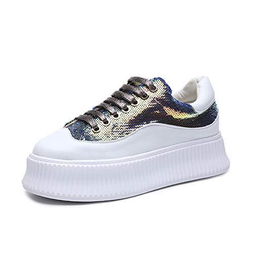 HOESCZS High Heels Vorfrühling Neue Einzelne Einzelne Einzelne Schuhe Damenmode Weiße Schuhe Mode Freizeitschuhe Dicke Unterseite Frauen Schuhe Kuchenunterseite B07QK72Q5L Boxschuhe Wir haben von unseren Kunden Lob erhalten. e06fb8