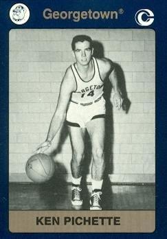 Ken Pichette Basketball card (Georgetown) 1991 Collegiate Collection #92