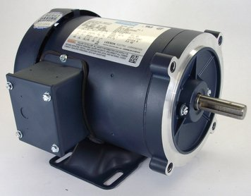 2 hp 3450 RPM 56C Frame TEFC C-Face (Rigid Base) 230/460V Leeson Electric Motor # 119417