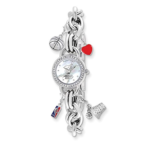 (Gifts Licensed Gifts Ladies NBA Miami Heat Charm Watch)
