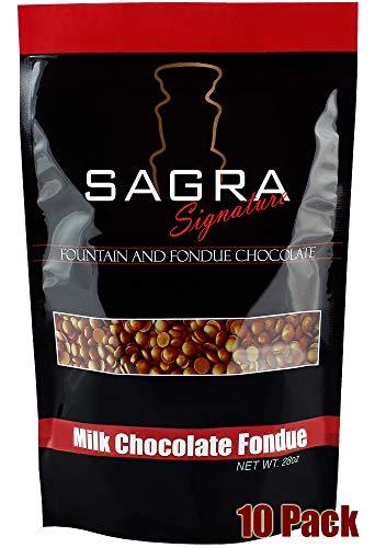 Sagra Milk Chocolate Fondue 17.5 Lbs.