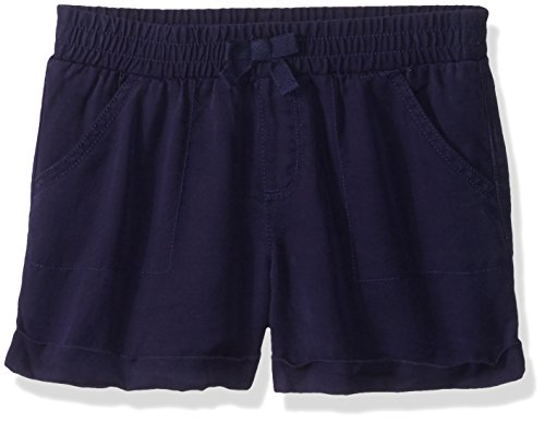 Gymboree Little Girls' Pull-on Shorts, Gym Navy, 4 by Gymboree