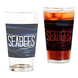 Seabees Pint Glass, 16 oz. Drinking Glass