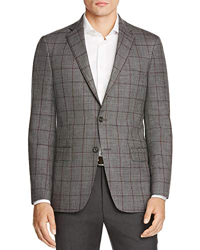 Hart Schaffner Marx Men's New York Worsted Wool Plaid Sportcoat 42 Long ()