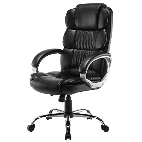fice Chair Computer Work Desk High Back (Black D) (La Z-boy Arm Chair)