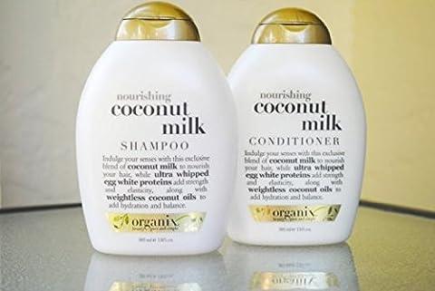 Organix: Nourishing Coconut Milk Shampoo + Conditioner, 13 oz Combo Pack (Organics Coconut Conditioner)