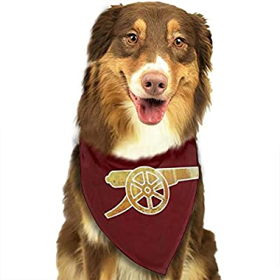 KZEMATLI Arsenal FC The Gunners Dog Bandanas Triangle Bibs Dog Kerchief Set Scarfs Accessories for Small to Large Dogs Cats Pets
