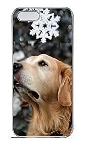 iPhone 5S Case, iPhone 5 Cover, iPhone 5S Winter Snow Dog Hard Clear Cases