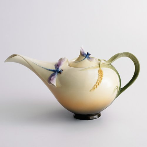 Franz Porcelain Dragonfly Teapot