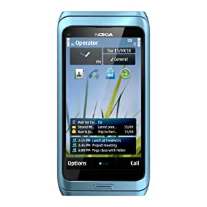 Nokia E7-00 Unlocked GSM Phone with Touchscreen, QWERTY Keyboard, Easy E-mail Setup, GPS Navigation, 8 MP Camera--U.S. Version with Warranty (Blue)