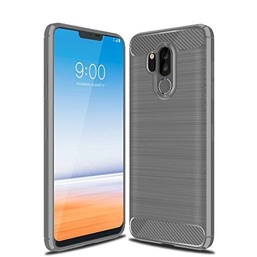 half off 82310 d8d8a LG G7 Case, LG G7 ThinQ Case, Cruzerlite Carbon Fiber Shock Absorption Slim  Flexible Case for LG G7/ LG G7 ThinQ (Gray)