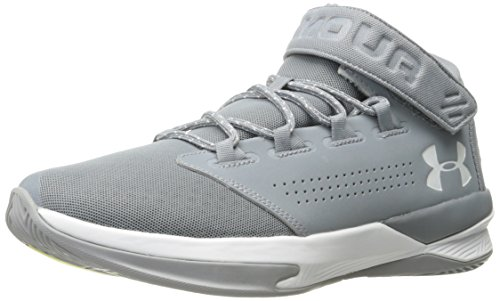 Under Armour Men's Get B Zee,Steel (035)/White, 9 (Webbed Court)