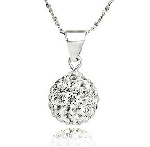 Werrox Charm Crystal Pendant Silver Chain Chunky Statement Choker Necklace Jewelry Gift | Model NCKLCS - 22119 |