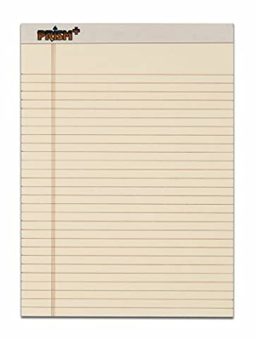 TOPS Prism Plus 100% Recycled Legal Pad, 8-1/2 x 11-3/4 Inches, Perforated, Ivory, Legal/Wide Rule, 50 Sheets per Pad, 12 Pads per Pack - Recycled Paper Pads