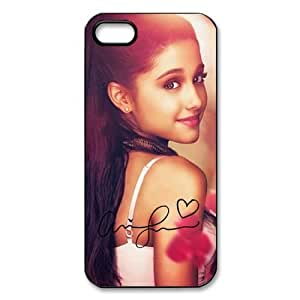 Ariana Grande TPU Protective Back Cover For Iphone 5/5s (Black, White)