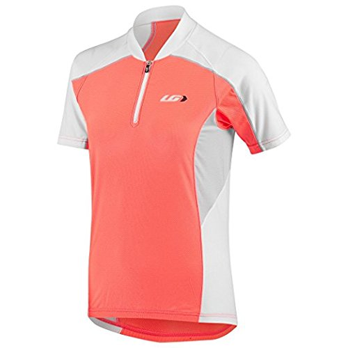 Louis Garneau Mistral Vent Junior Cycling Jersey, Coral Mania, Junior Smal by Louis Garneau