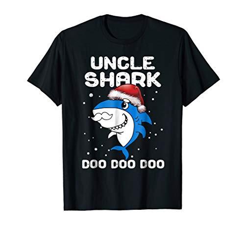 Uncle Shark Christmas Shirt for Matching Family Pajamas