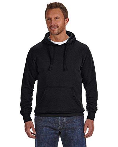J America Adult Cloud Fleece Pullover Hood (Black) (M)