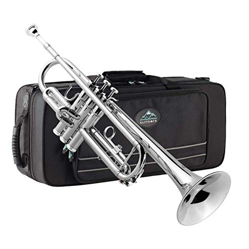 Eastrock Trumpet Brass Standard Bb Trumpet Set for Beginnner