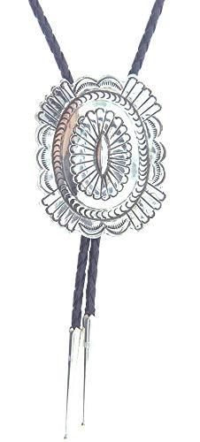 By Navajo Artist Carson Blackgoat: A Beautiful authentic Navajo Native American High Polish Bolo Tie
