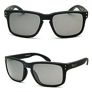 BNUS Men's True Color Polarized Sunglasses for Driving Fishing Golf cycling (Frame: Matte Black, Polarized TrueColor Brown)