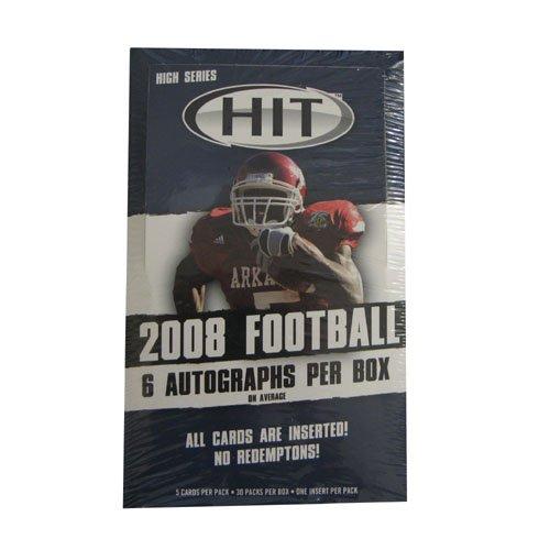 2008 Sage Hit Football High Series Hobby Box - 30 Packs Per Box 5 Cards Per - Elite Sports Cards