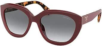 Prada PRADA HANDBAG LOGO PR 16XS RED/GREY SHADED 56/18/140 women Sunglasses