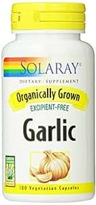 Solaray Organic Garlic Supplement, 600 mg, 100 Count