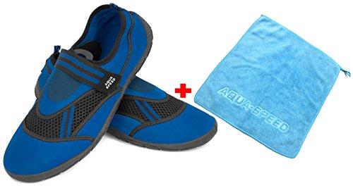 25 Zapatillas Agua Hombres de Schwarz Blau Aqua Aqua Microfibra Adolescentes Aqua Toalla Speed MODELL Niños Set de Mujeres Unisex Zapatos Zapatillas Neopreno xqHfOI