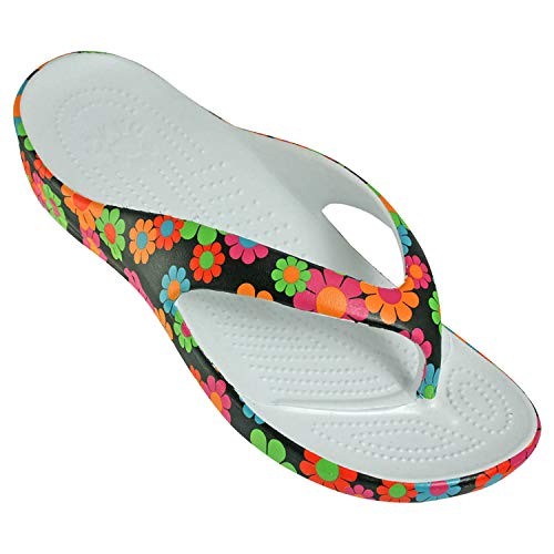 DAWGS Women's Loudmouth Beach Arch Support, Magic Bus, 7 M US