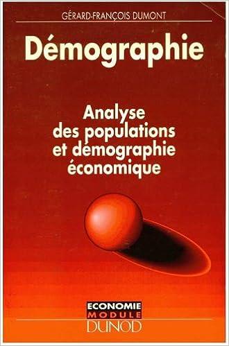 Lire un Démographie : Analyse des populations et démographie économique pdf