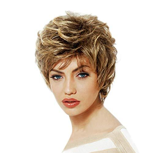 wuliLINL Girls Fashion Short Golden Wig Women Loose Curly Blanche Devereaux Cosplay Hair wigs (Best Of Blanche Devereaux)