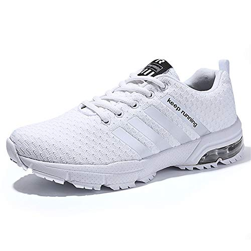 KUBUA Womens Running Shoes Bowling Sports Casual Indoor Fitness Fashion Sneakers Outdoor Road Walking Athletic Jogging Footwear Tennis 6.5 B / 6 D K White
