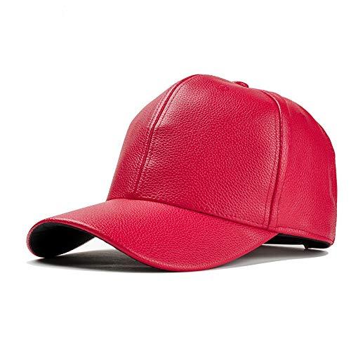 Casual Yhuisen Rosso 60cm colore Berretti Baseball Moda E Pelle Di In Dimensione Rosso Donna 56 Uomo Da Motociclista Cappello vTHnv6g