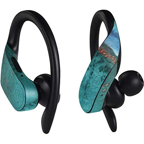 Skinit Turquoise Watercolor Geode PowerBeats Pro Skin - Geode Audio Decal - Ultra Thin, Lightweight Vinyl Decal Protection